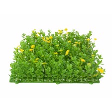 Grass mat, artificial, green-yellow, 25x25cm