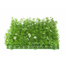 Grass mat, artificial, green-white, 25x25cm